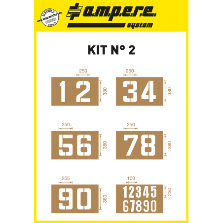 KIT Nº2 - Stencils of numbers