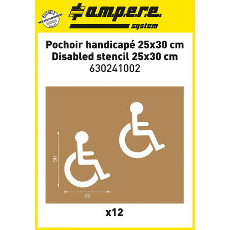 Kit of 12 Disabled stencils 25x30cm