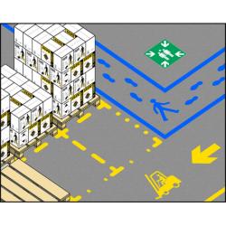 ampere reusable floor stencils - industry  kit
